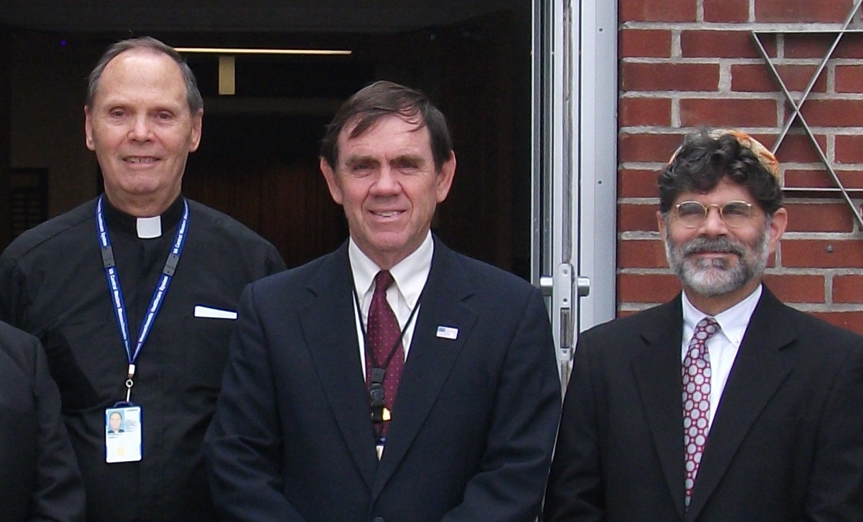 Chaplains, from left, Ed Bonneville, Roman Catholic; David Whiteley, Protestant; and Kevin Hale, Jewish.