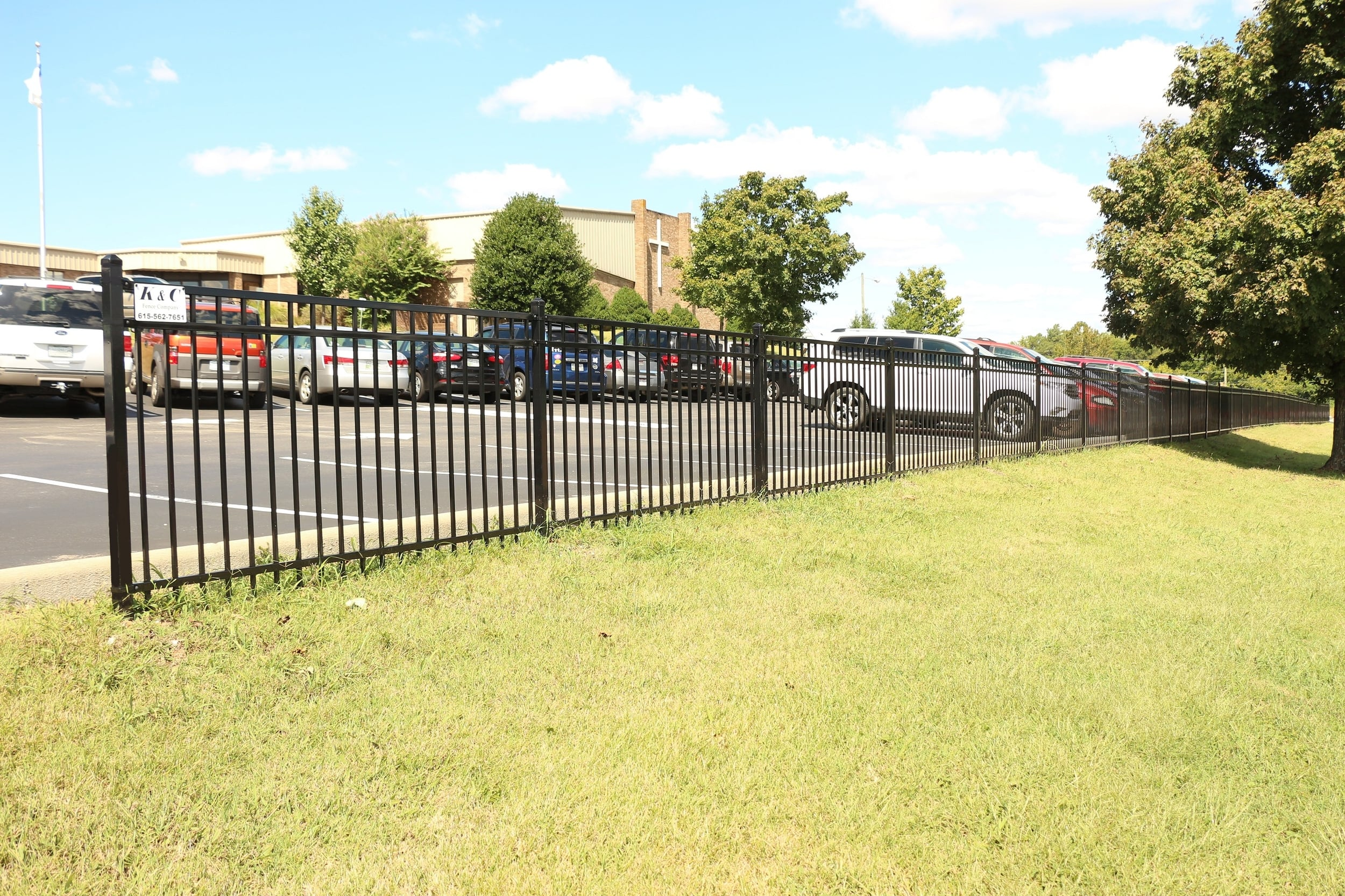 Steel Fence Installed in Nashville TN by K & C Fence Company