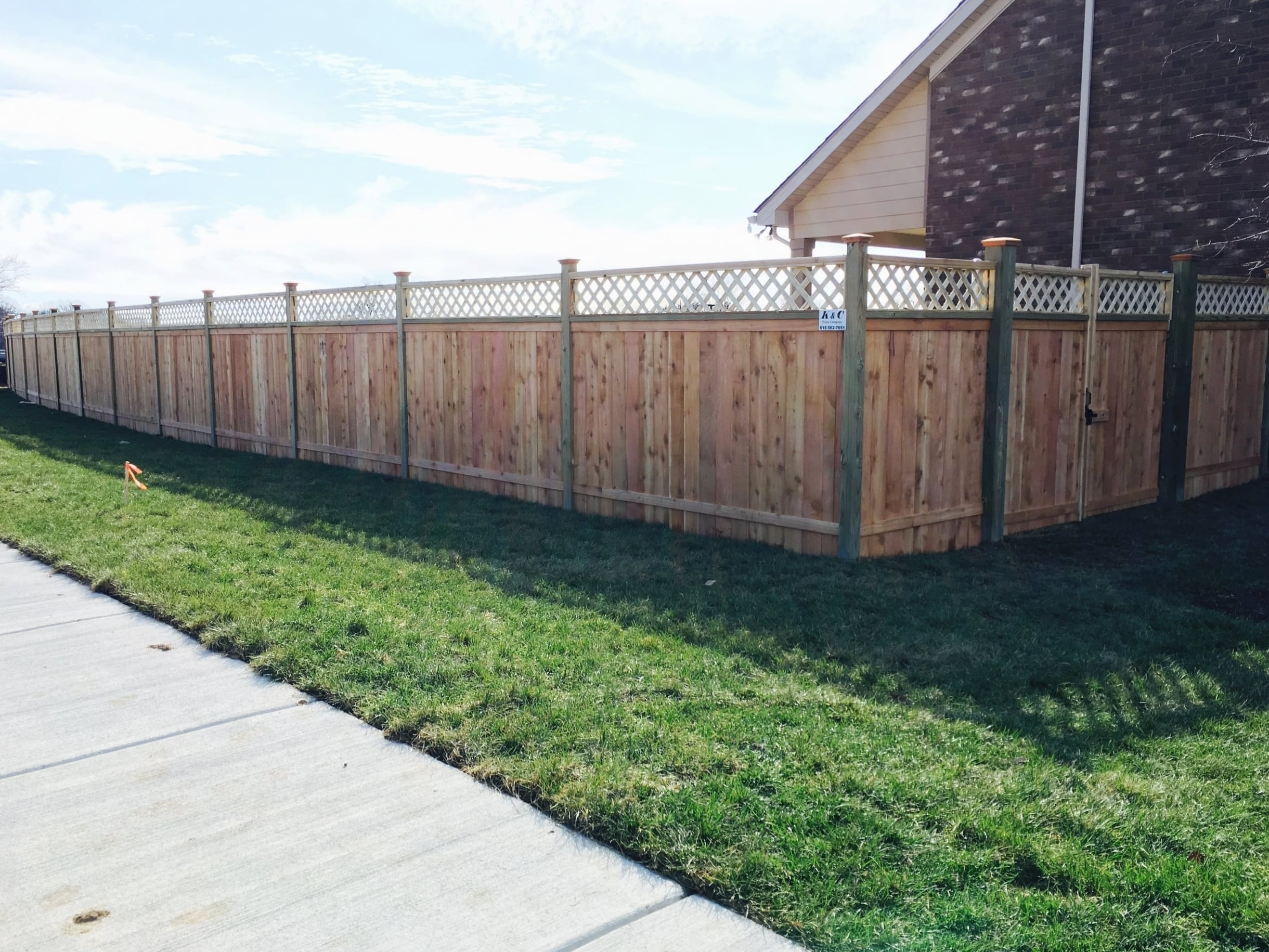 Fence With Lattice Installed In Nashville TN