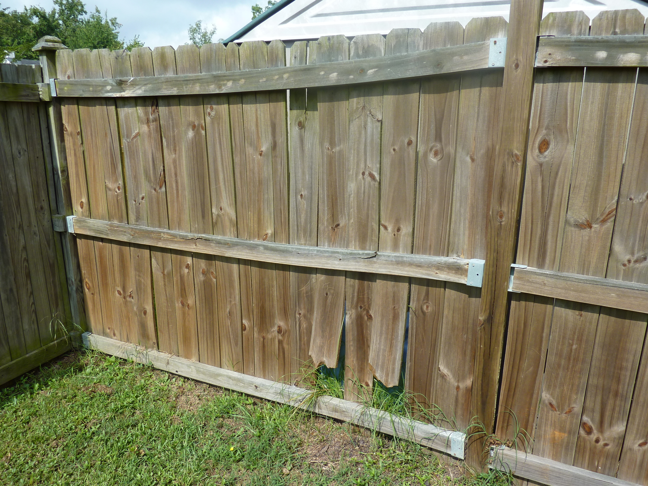 Wood Fence That Is Warping, Twisting, Moving, Shrinking and Cracking In Nashville TN.