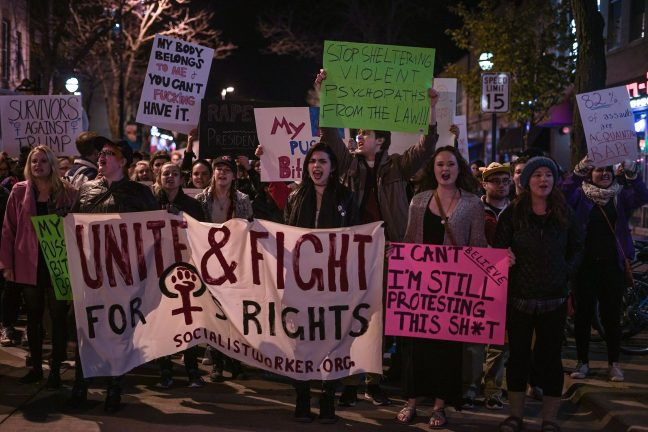 sexual assault protest  november 2016
