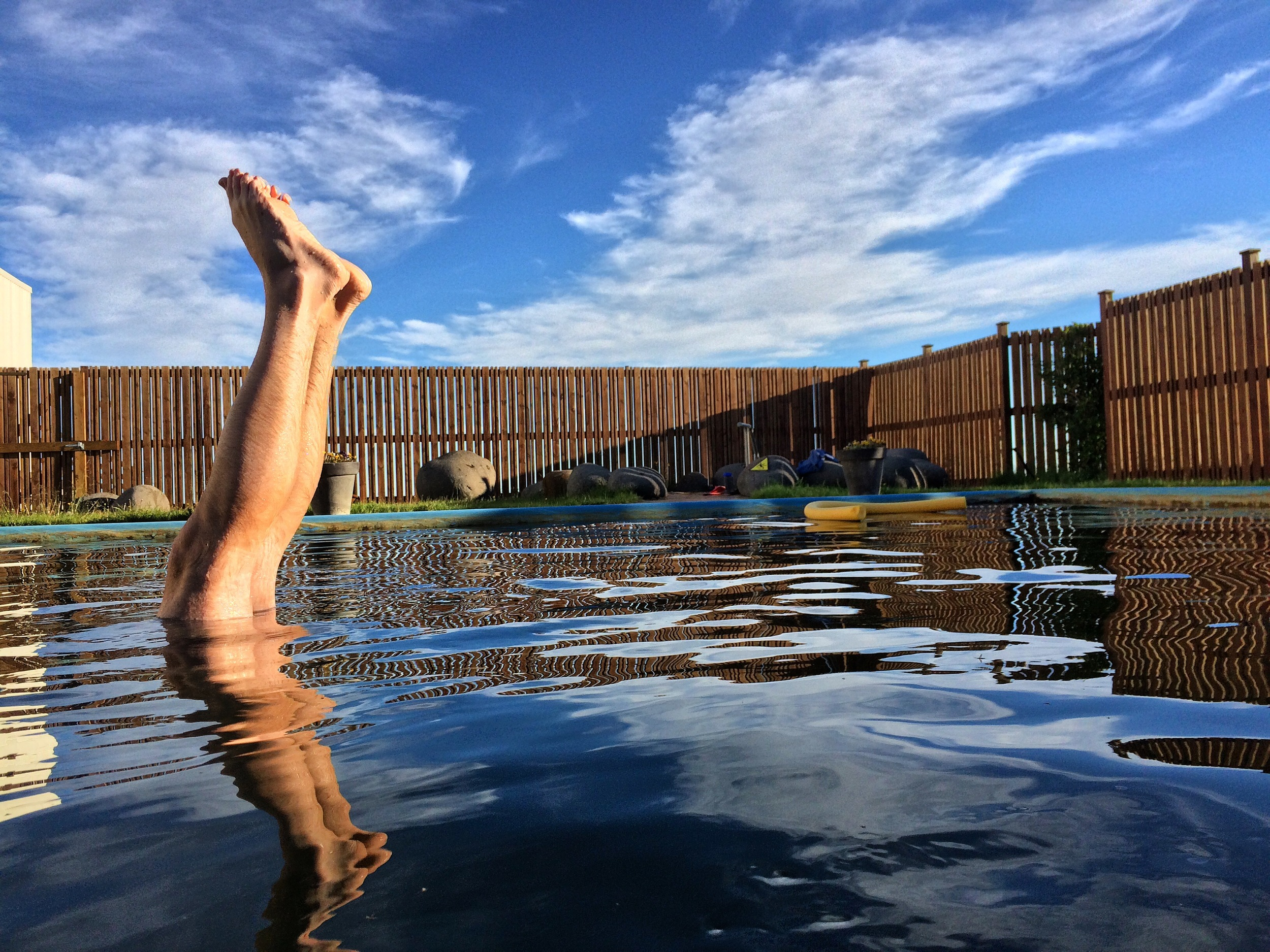 My husband in an Icelandic hot-spring