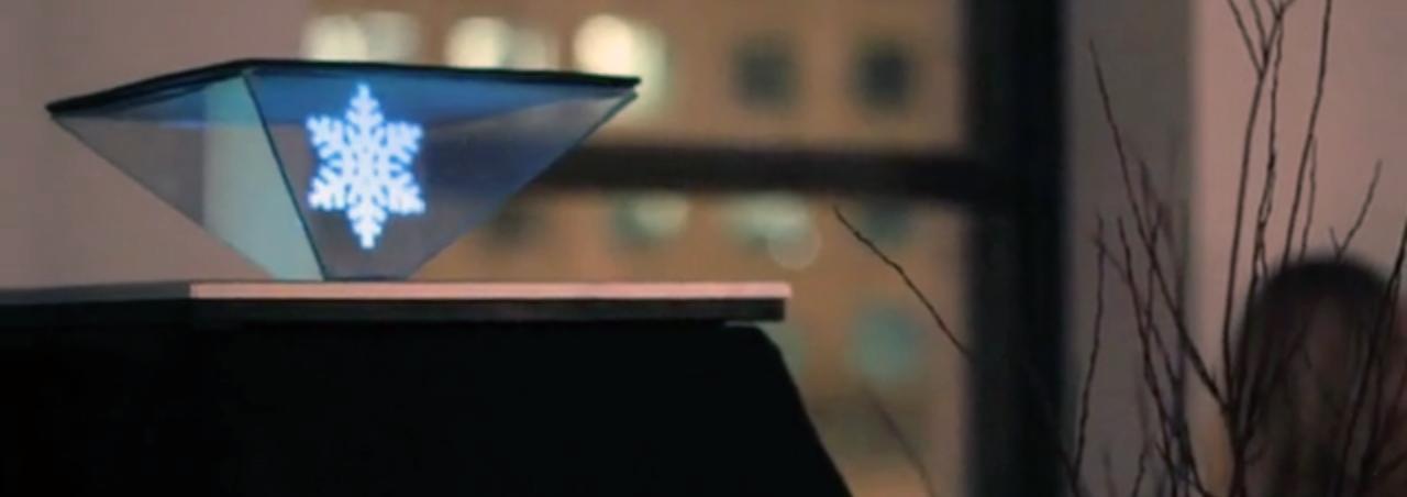 Small interactive hologram—Lumo Interactive