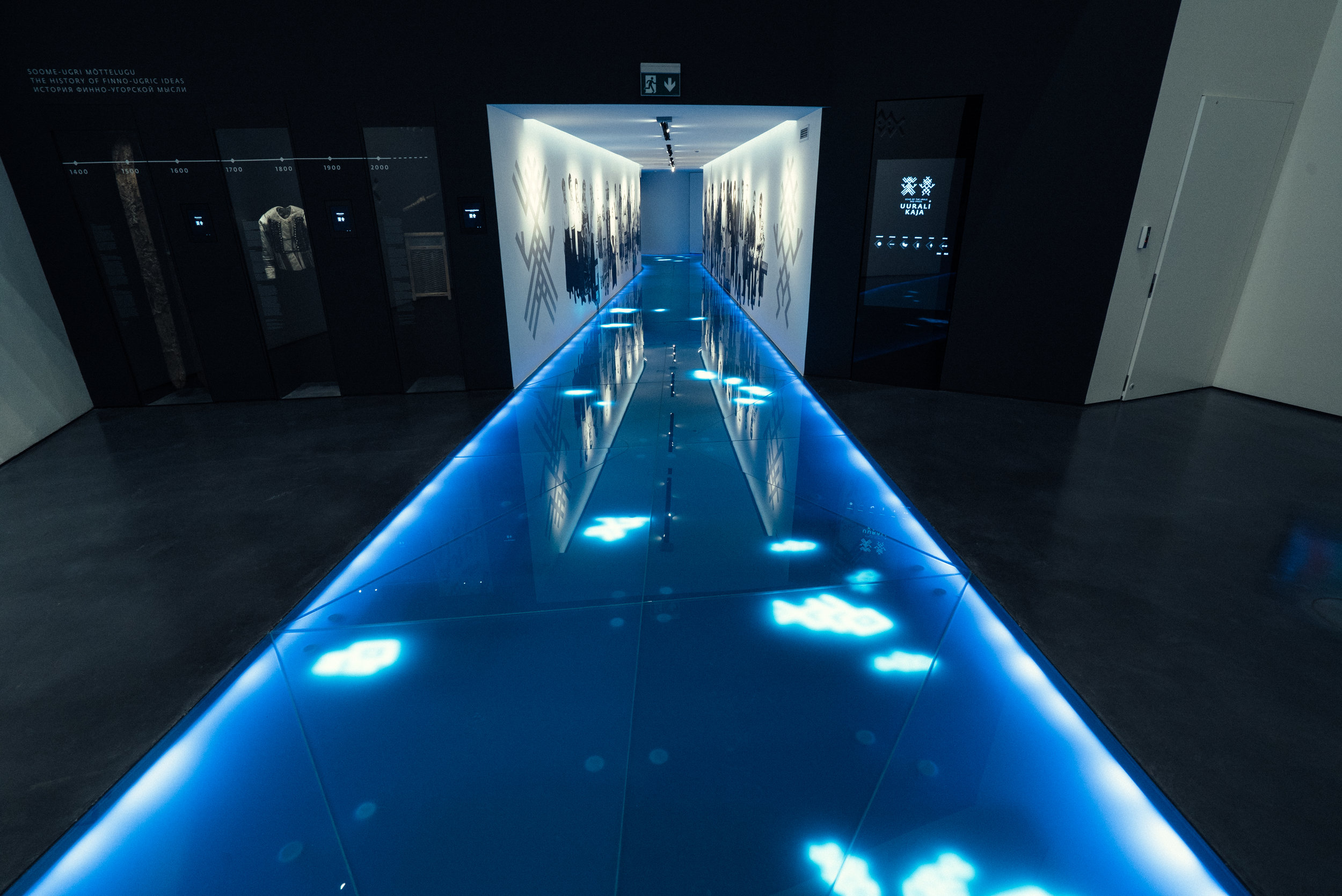 Interactive floor hallway at the Estonian Maritime Museum. (Lumo Play)