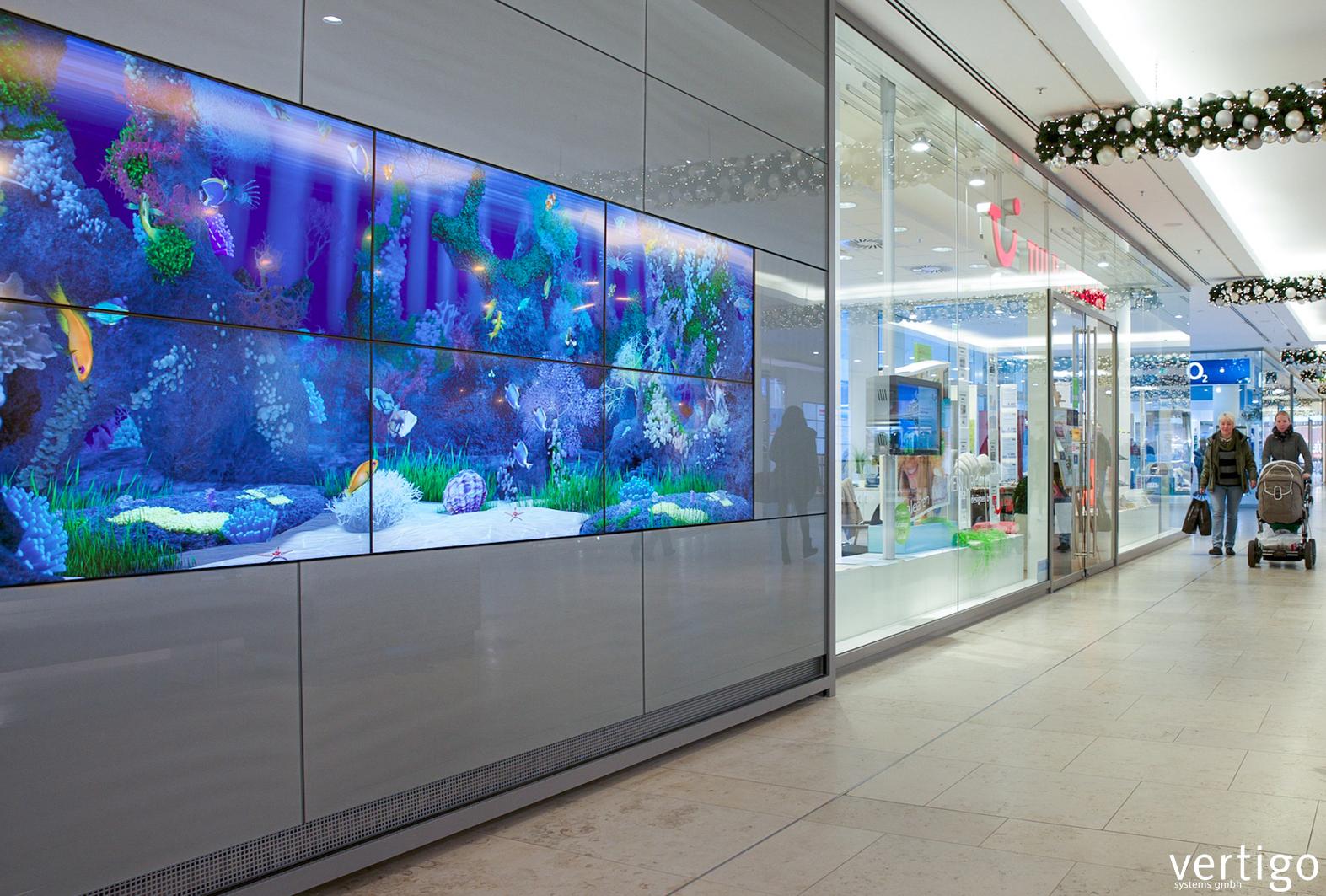 Interactive Aquarium Wall, from  Vertigo Systems