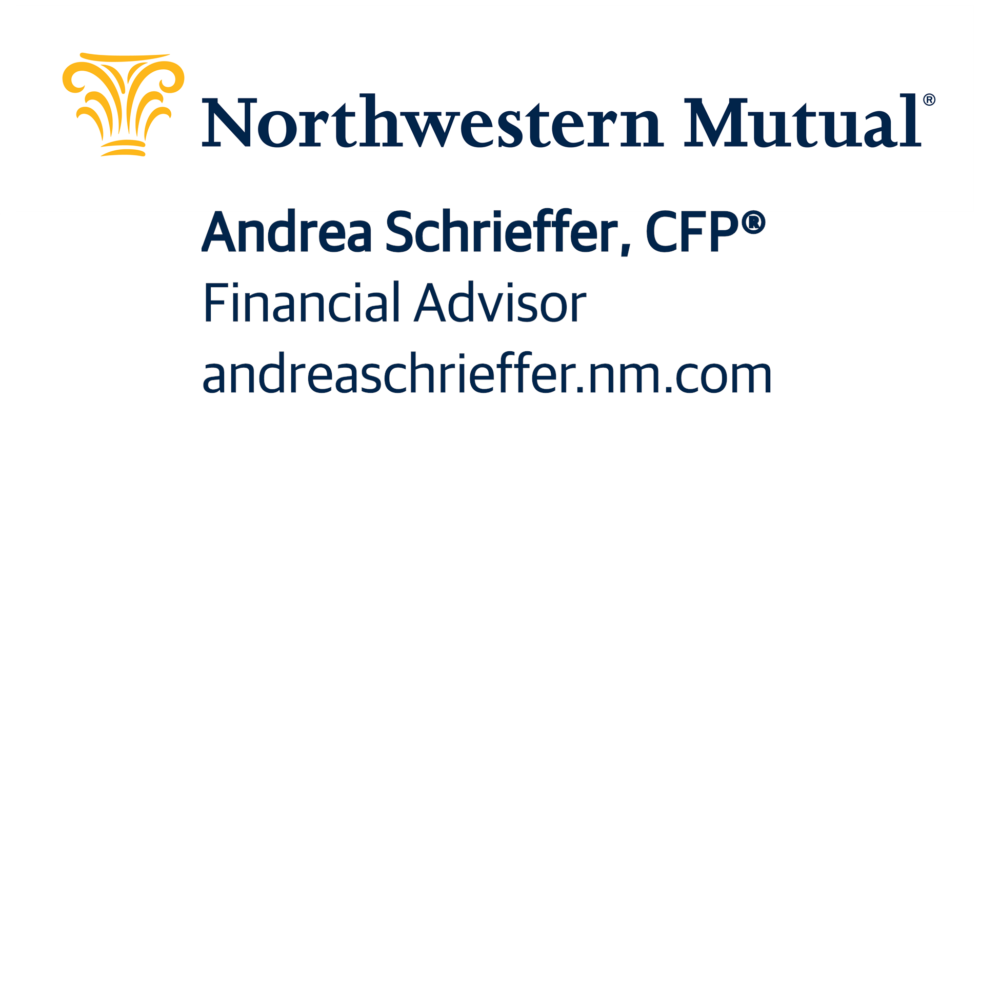 Connect with Andrea Schrieffer