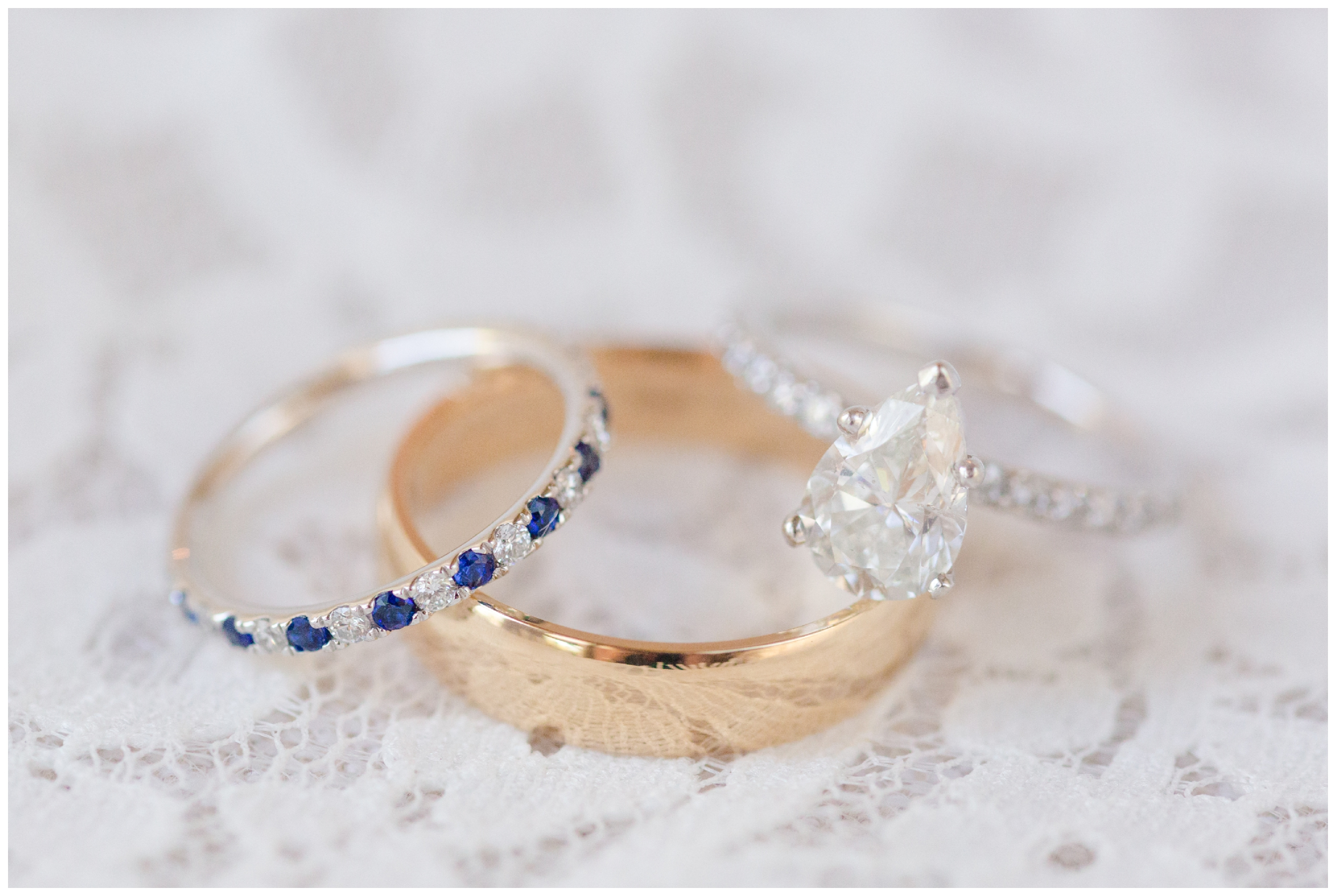 bride and groom ring set