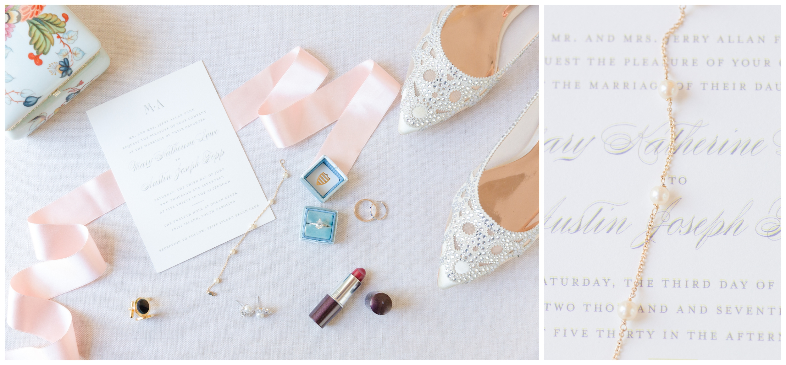 bride's details styled
