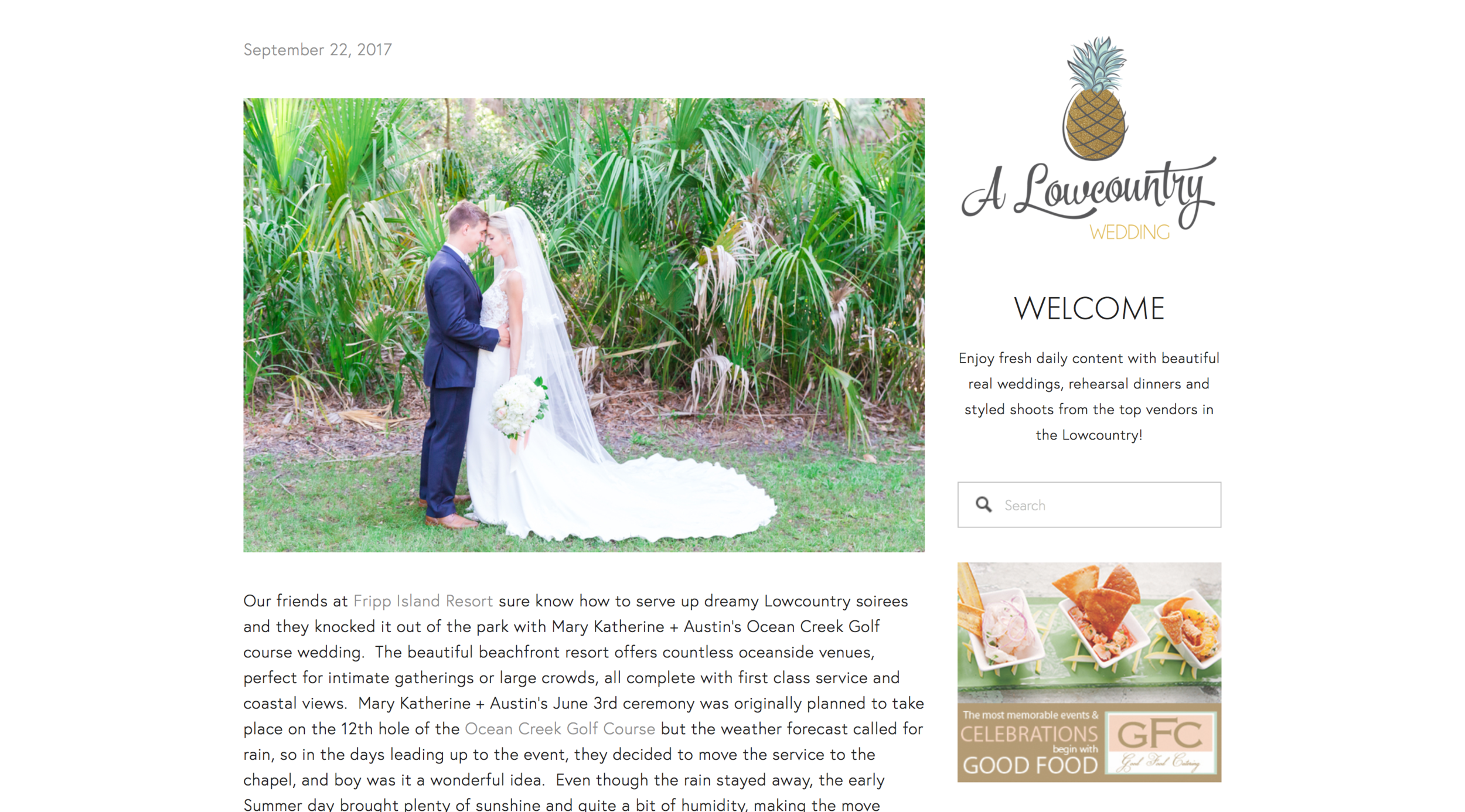 lowcountry wedding feature
