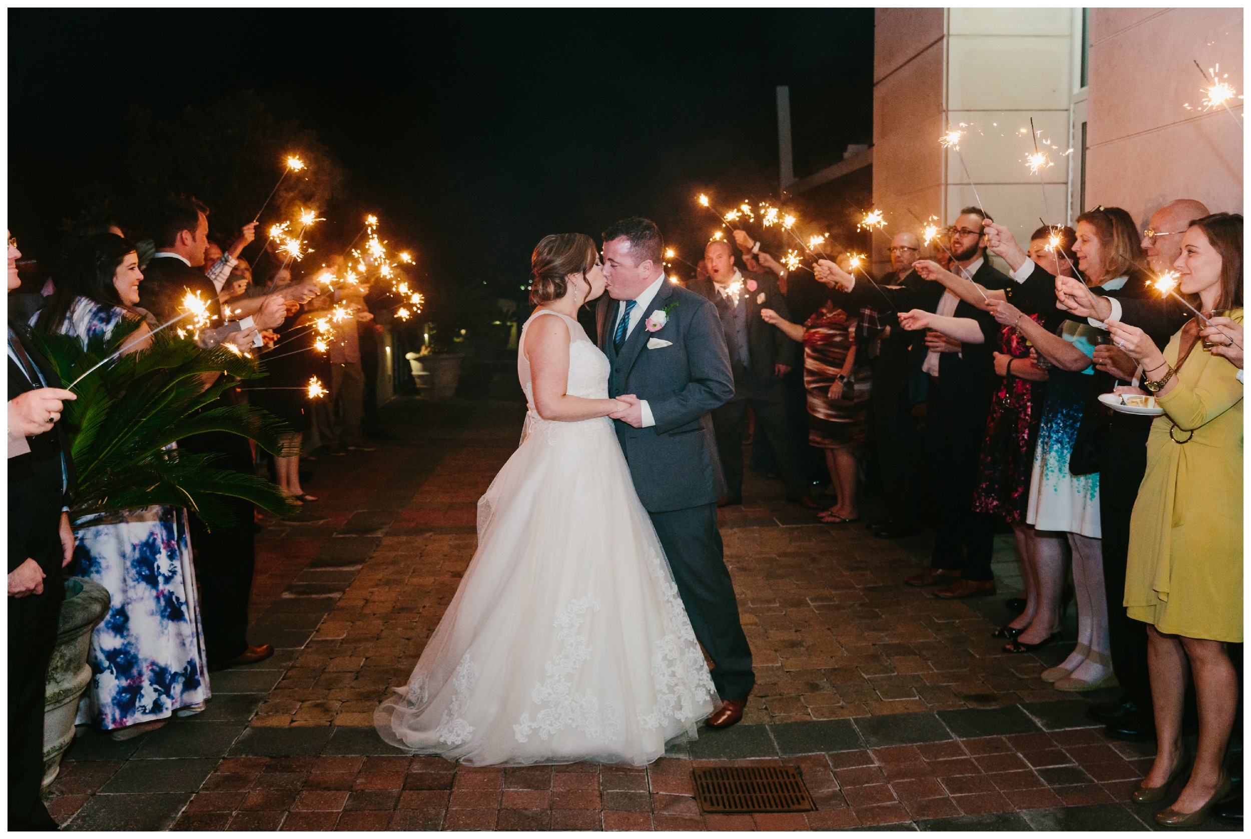 sparkler exit to end the night at harborside east in mt. pleasant