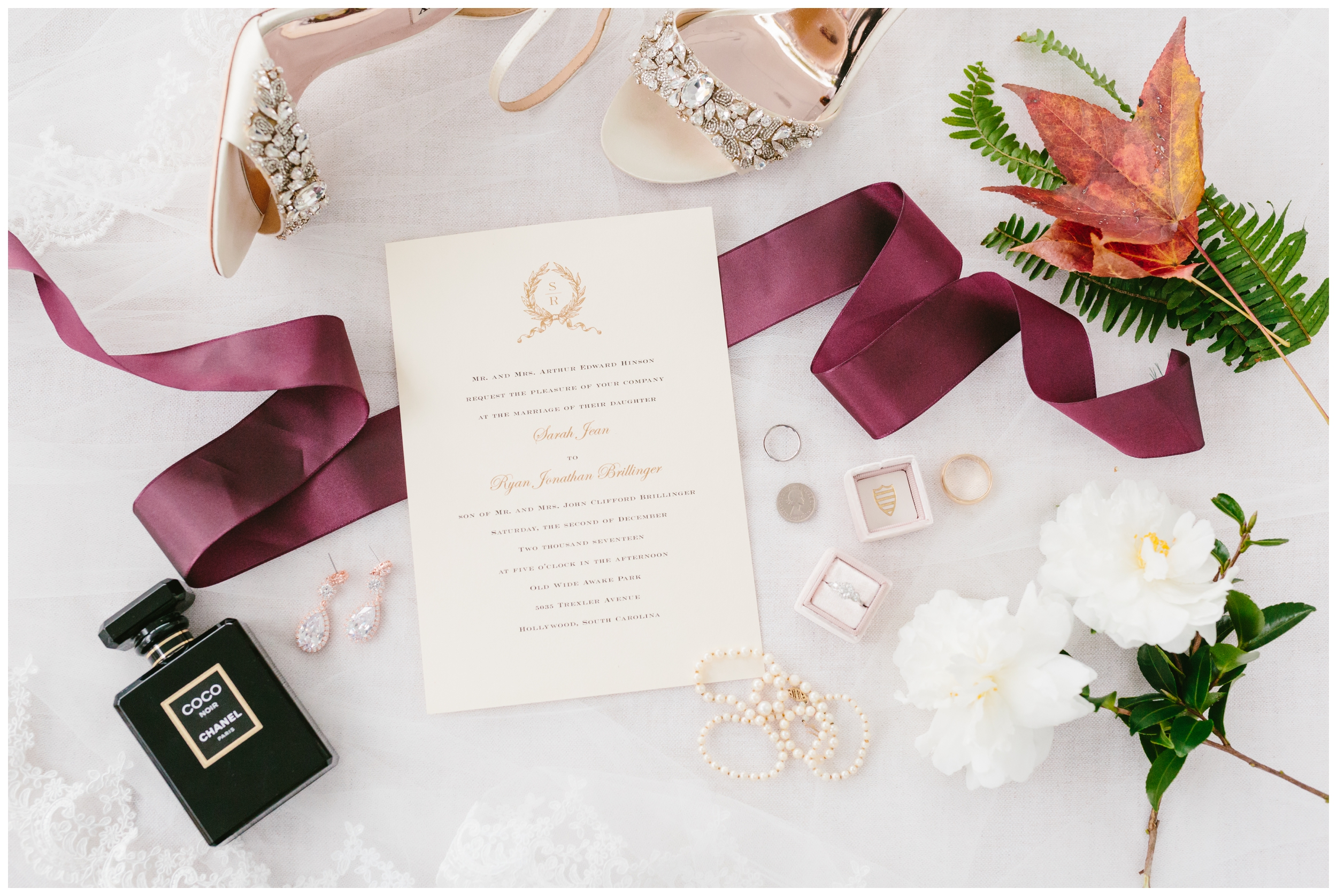 Details styled with ribbon and the mrs. box.