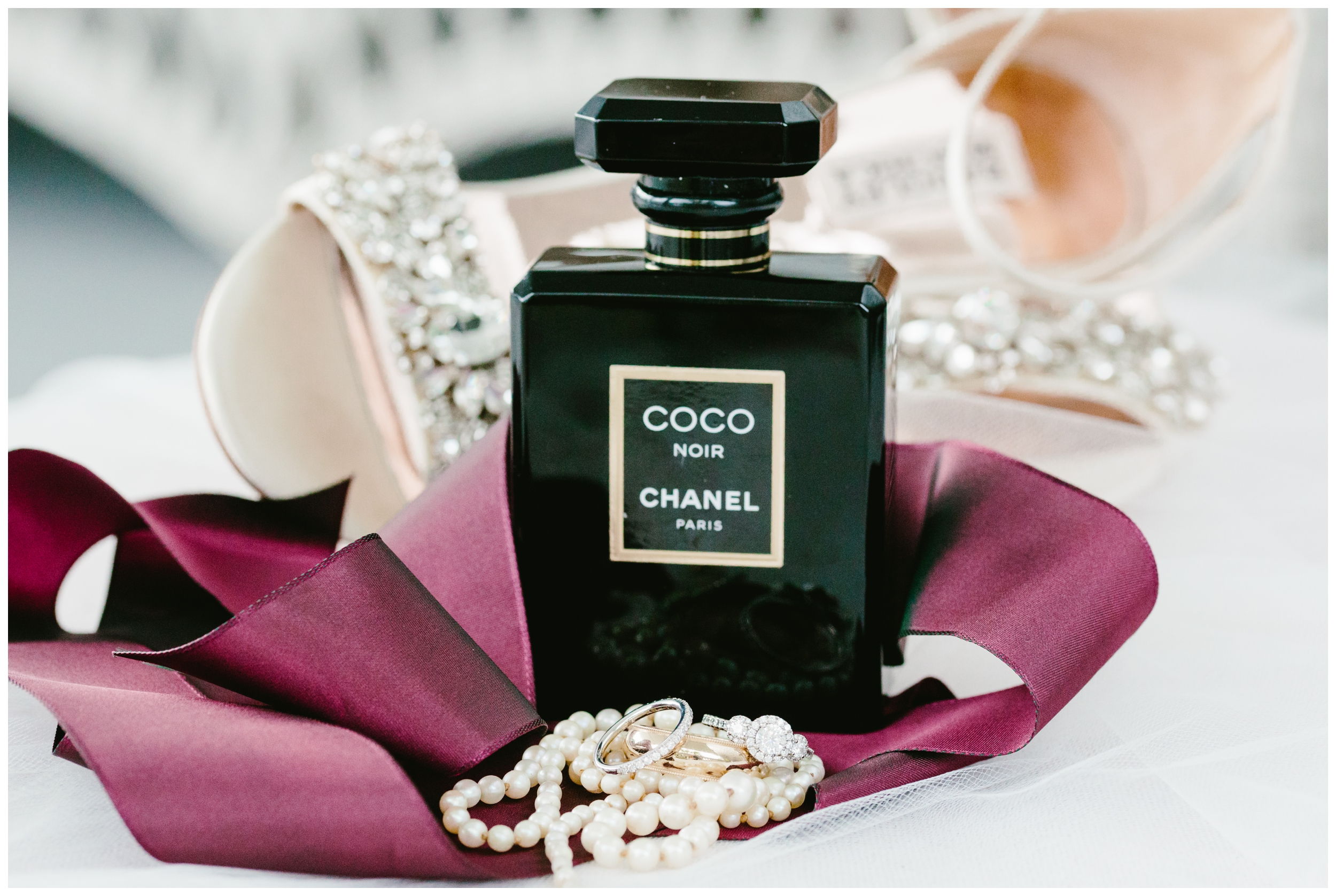 The bride's scent for her wedding day was Coco Chanel Noir.