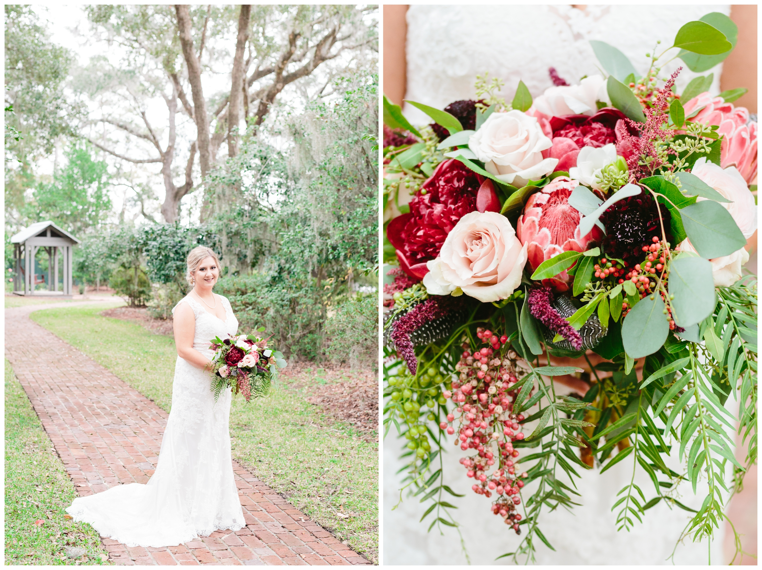 the bride looked beautiful for her portraits. the bouquet designed by frampton's florals was the perfect pop of fall color!
