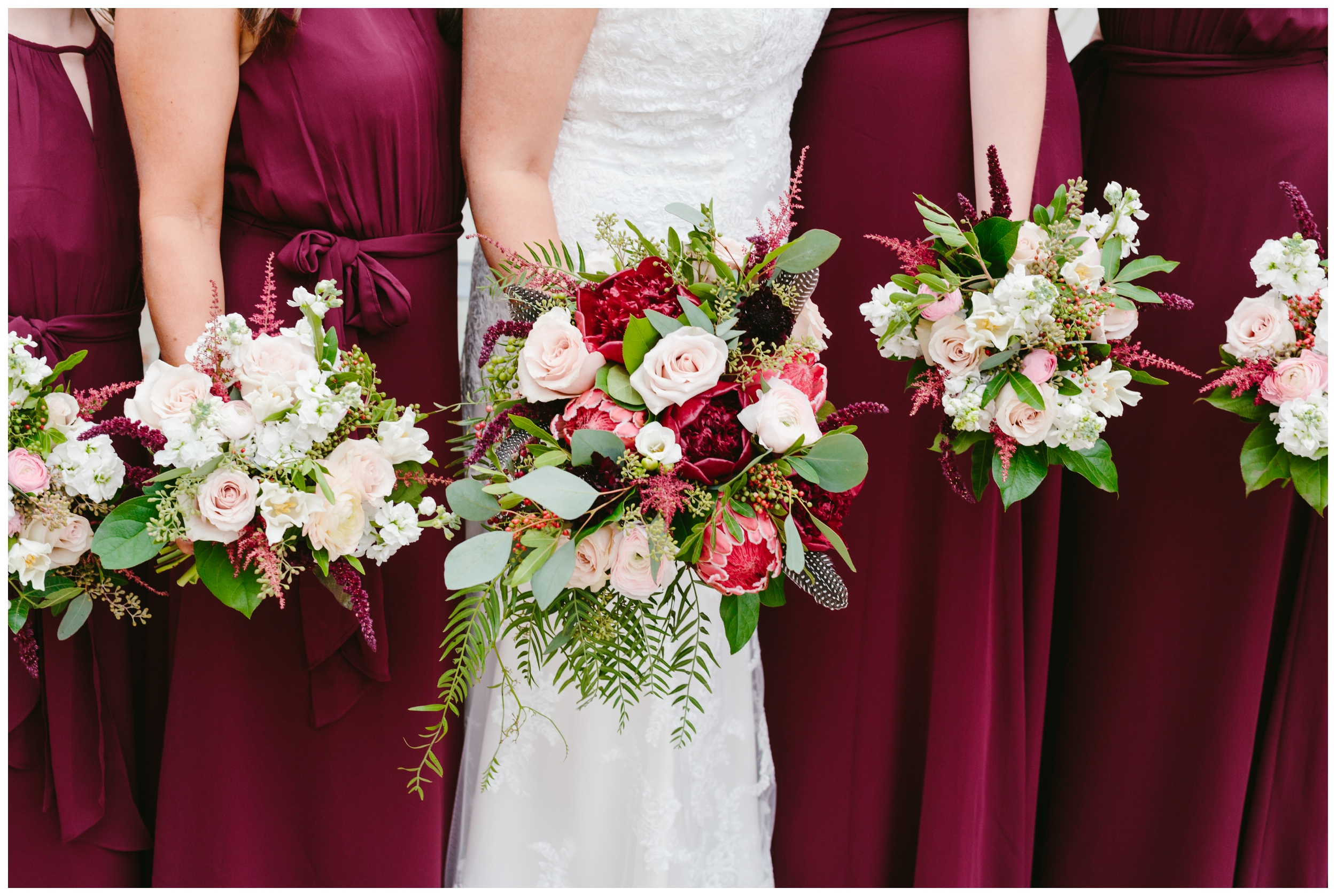 what a beautiful color scheme the bride chose. frampton's florals did an amazing job with the flowers!