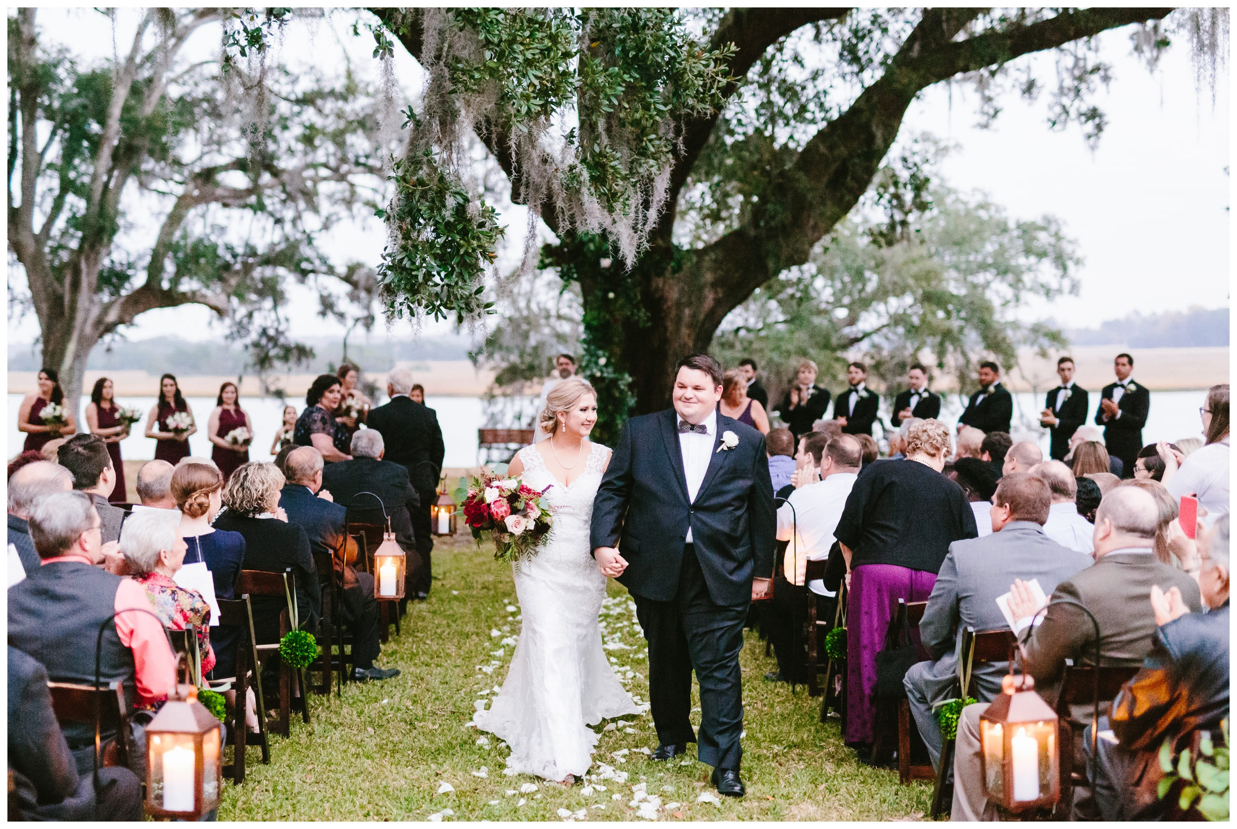 it's official! mr. and mrs. brillenger exchanged their vows underneath the beautiful oak of old wide awake park.