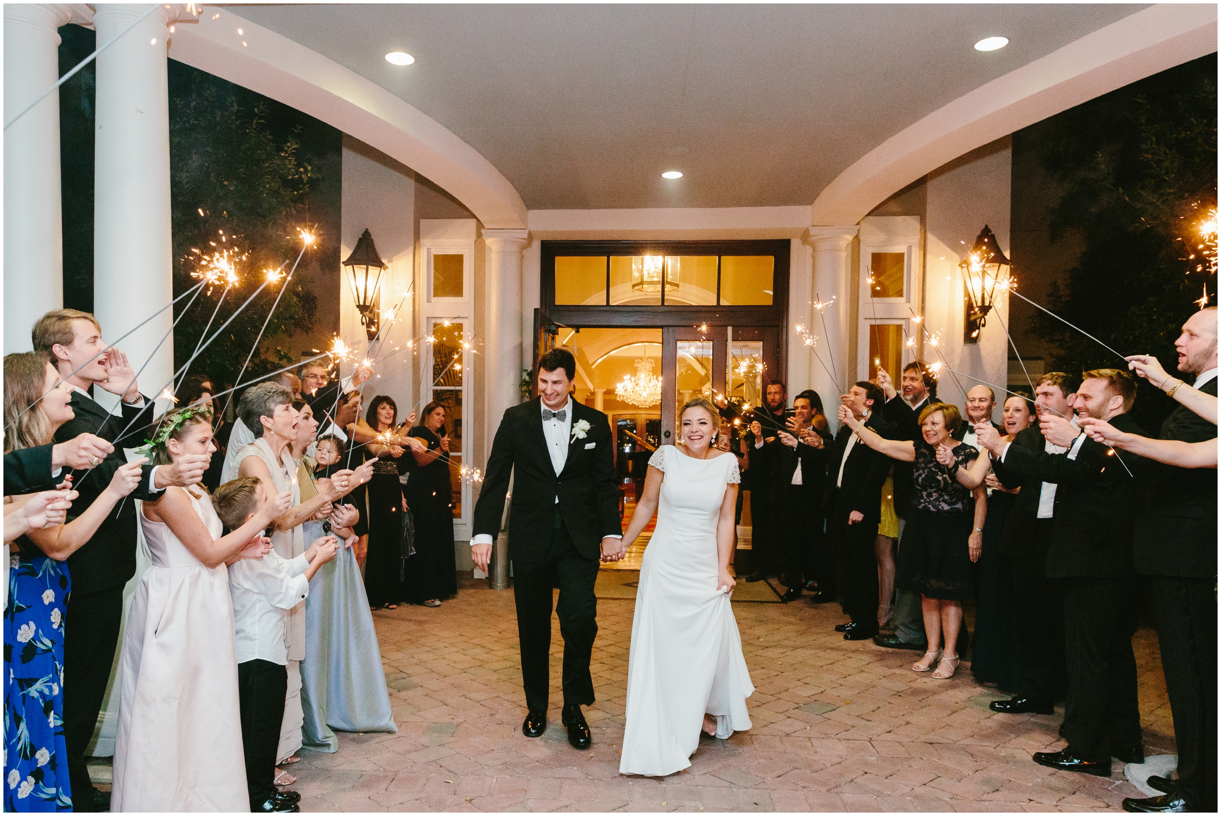 sparkler exit at the country club of charleston