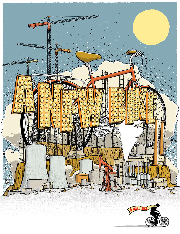 """""""A New Bike"""" Public Energy Art Kit Poster"""