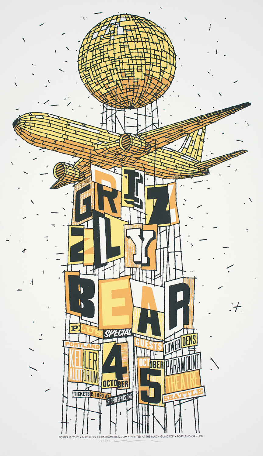 Grizzly Bear Concert Poster