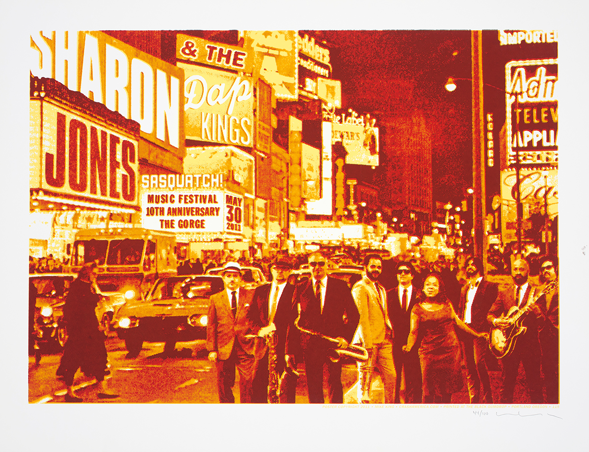 Sharon Jones and the Dap Kings Concert Poster