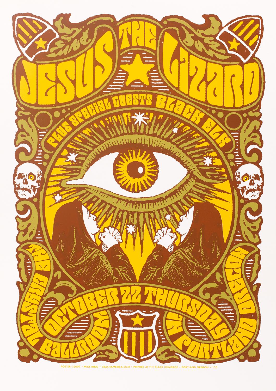 Jesus Lizard Concert Poster