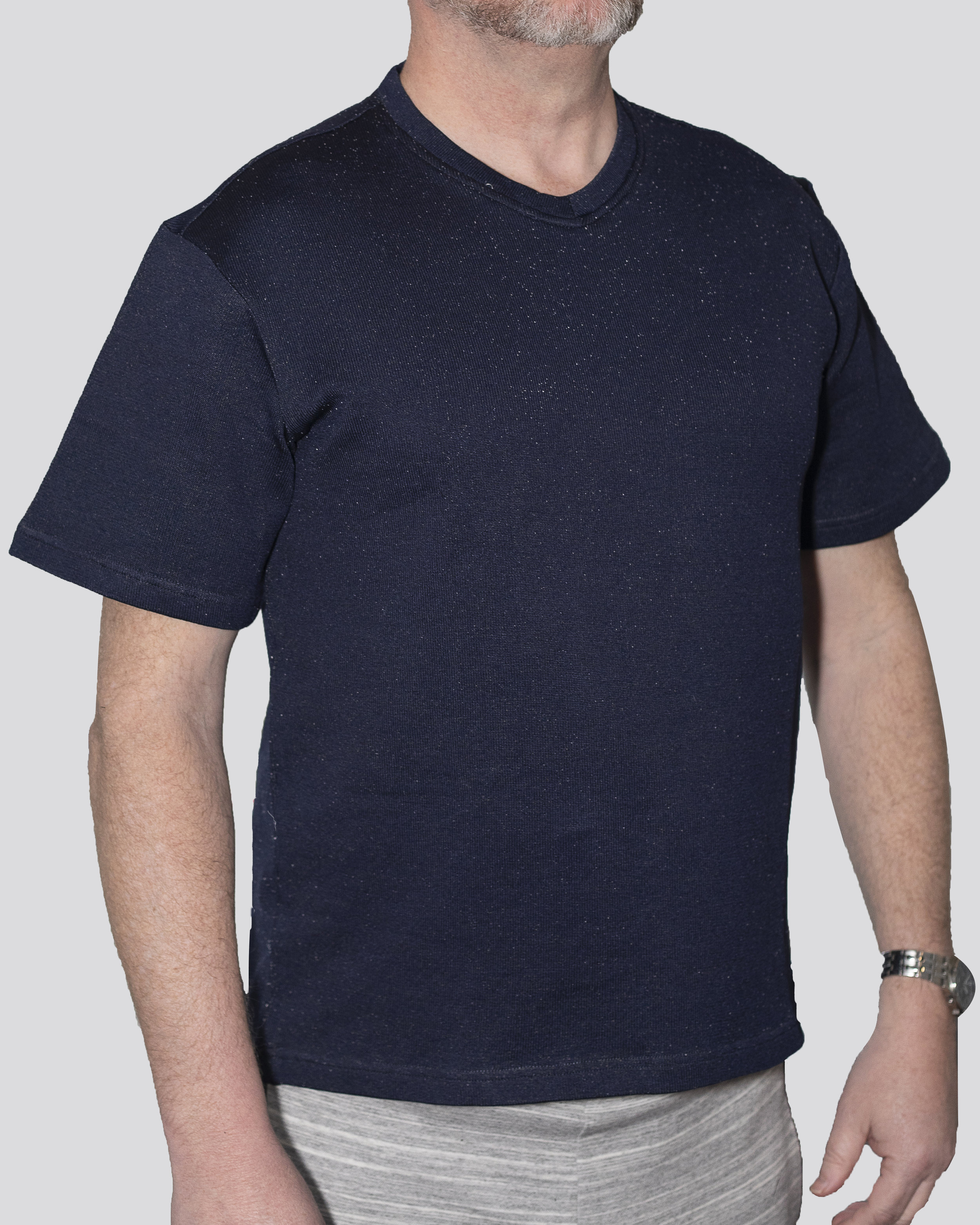 Cut-Tuff™ Cut Resistant Short Sleeve V-Neck T-Shirt Navy.jpg