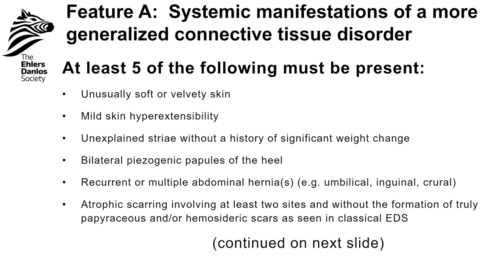 Feature A: Systemic Manifestations