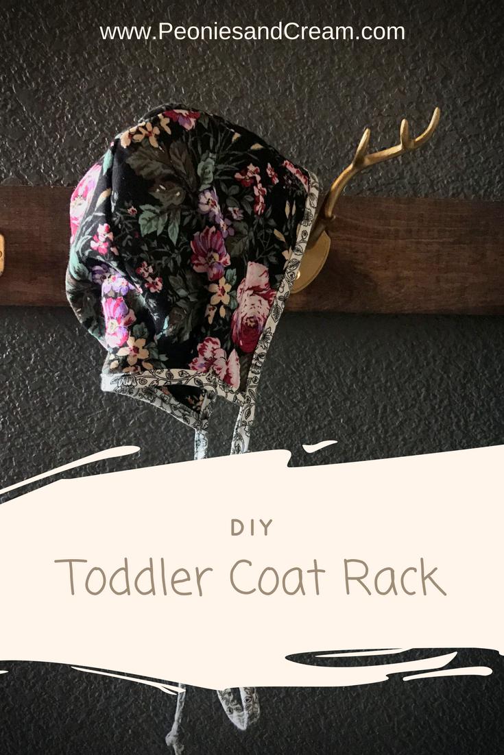 Peonies & Cream - DIY Toddler Coat Rack Pin 3