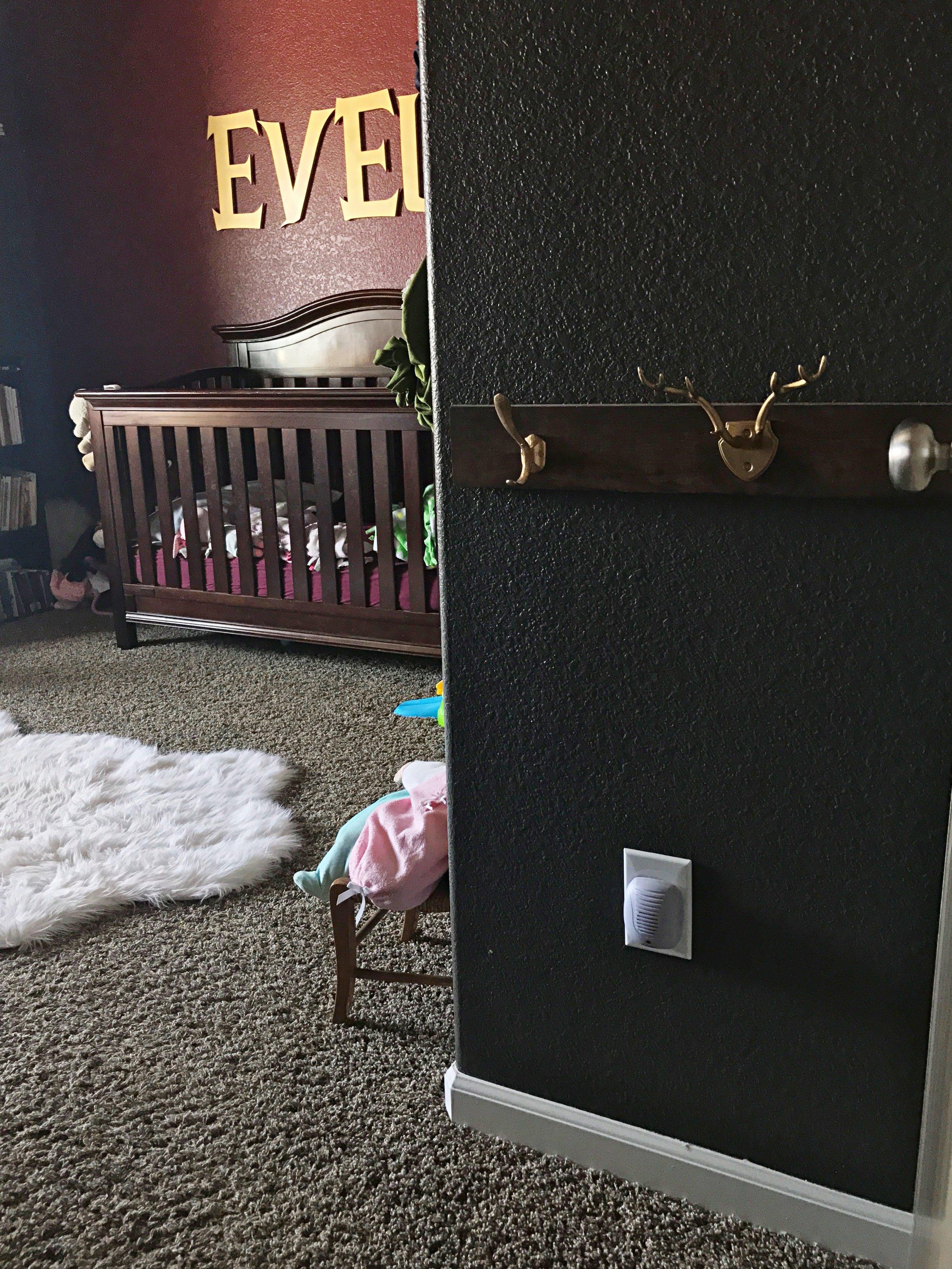 Peonies & Cream - DIY Toddler Coat Rack