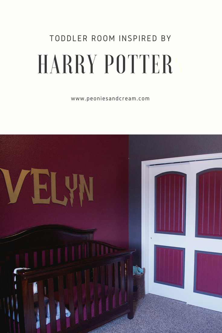 Peonies and Cream - Harry Potter Toddler Room Evelyn Crib Pin