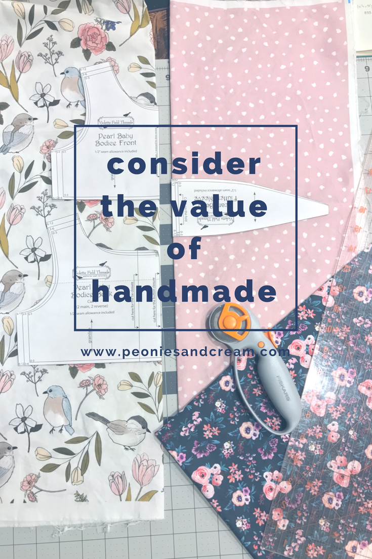 Peonies and Cream - Quality V Quantity Consider the value of your handmade items