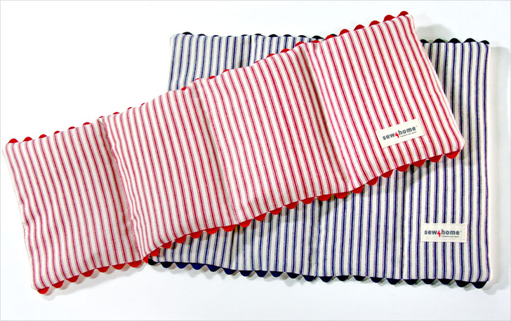 Sew4Home handmade heating pad on Peonies and Cream - DIY gifts