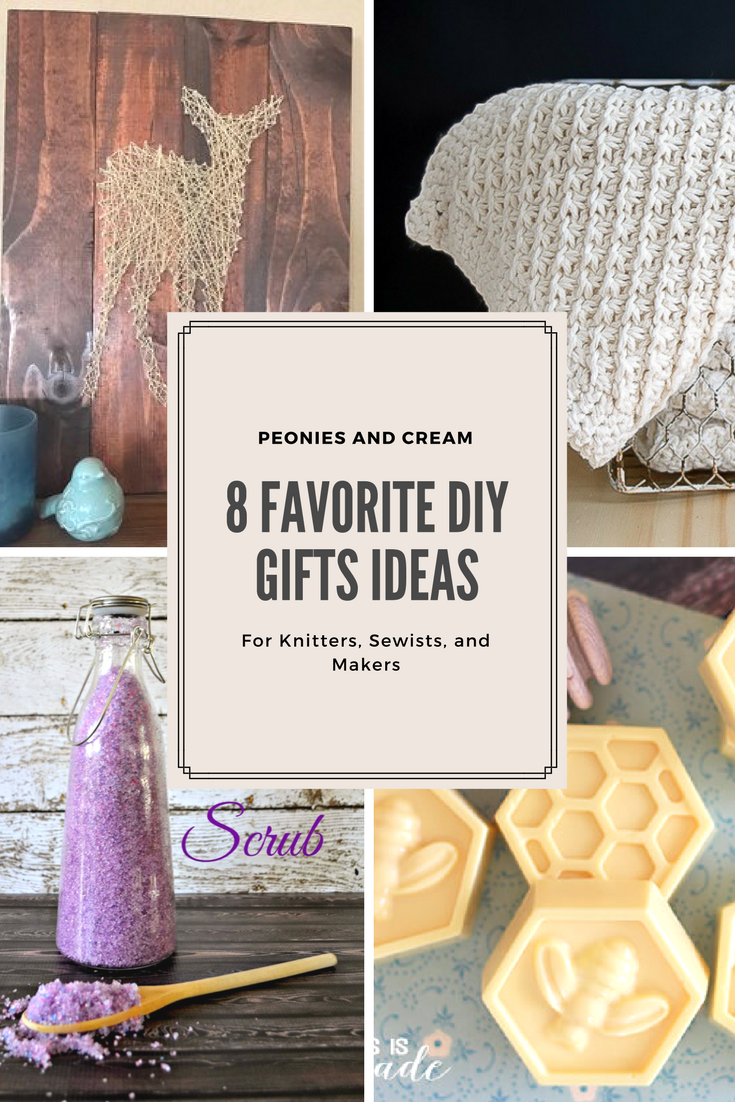 8 DIY gift Ideas for Knitters, Sewists, and Makers - Peonies and Cream