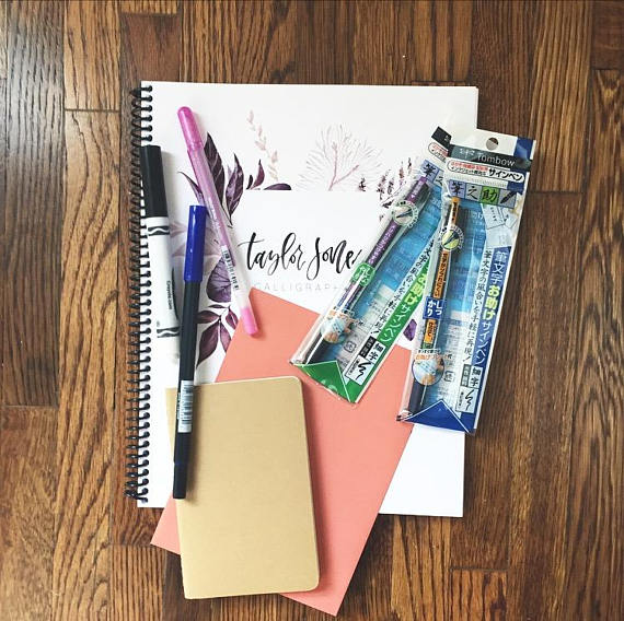TJones Calligraphy Kit - Peonies and Cream - Shop Handmade for Christmas