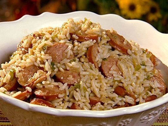Dirty Rice with Smoked Sausage from The Neelys - Food Network