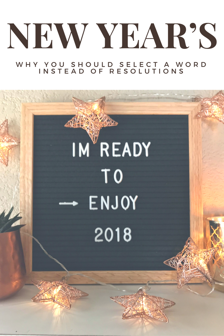 Why you should choose a word, mantra, or theme for your instead, instead of making resolutions - Peonies and Cream
