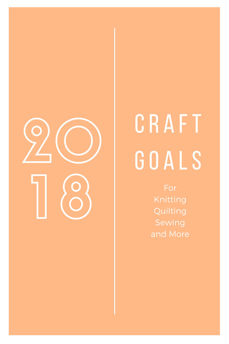 Making 2018 craft and project goals - Peonies and Cream
