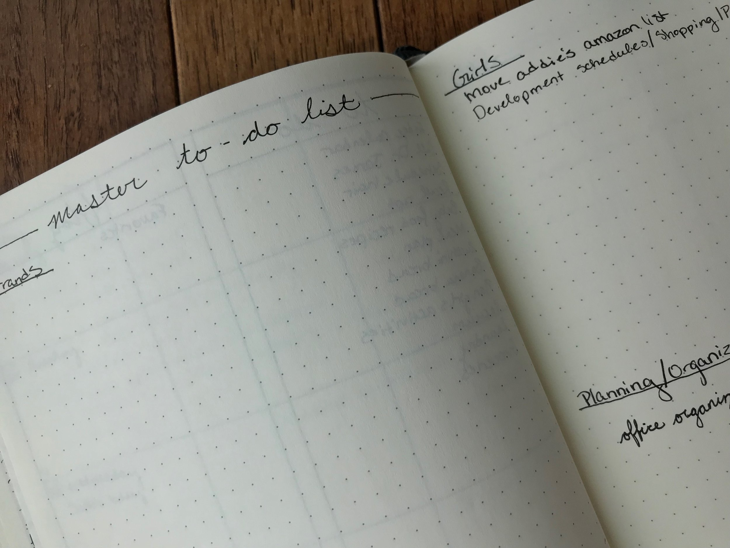 A Master To-Do list