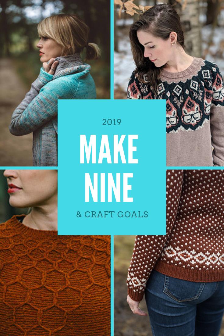 2019 Make Nine and Craft Goals   Peonies and Cream