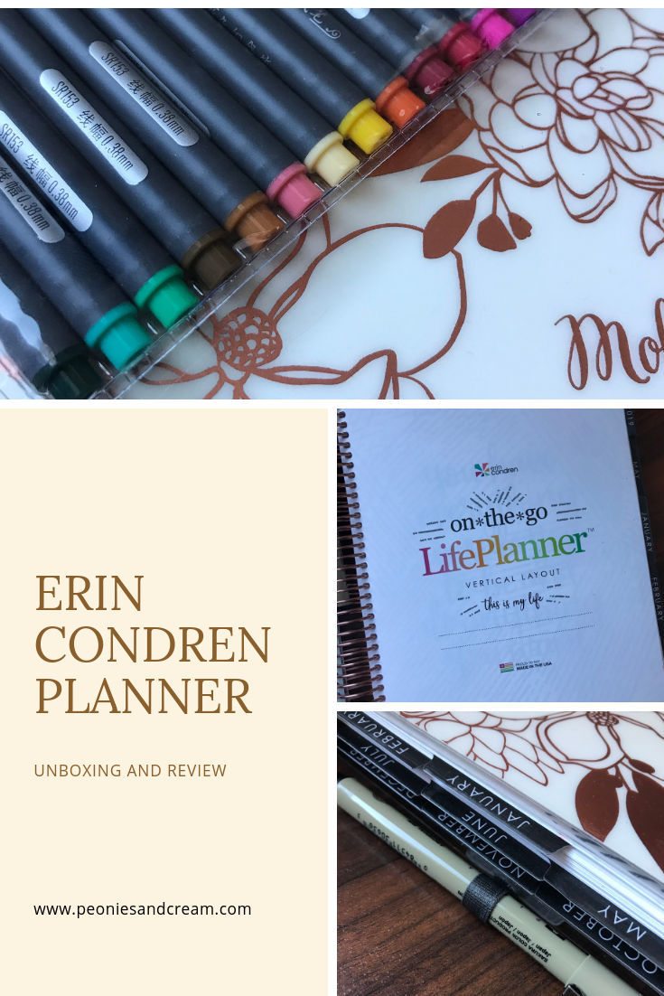 Erin Condren Planner - Unboxing and Review | Peonies and Cream