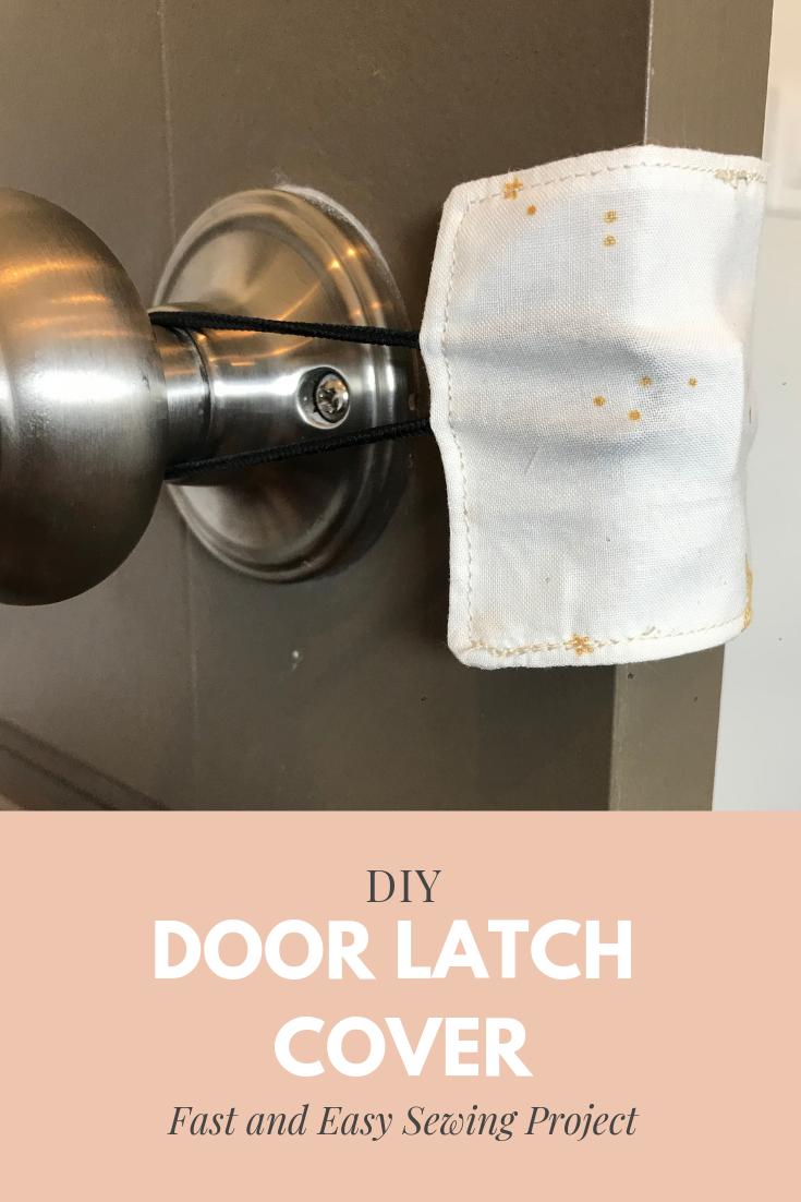 Door Latch Covers | Peonies and Cream