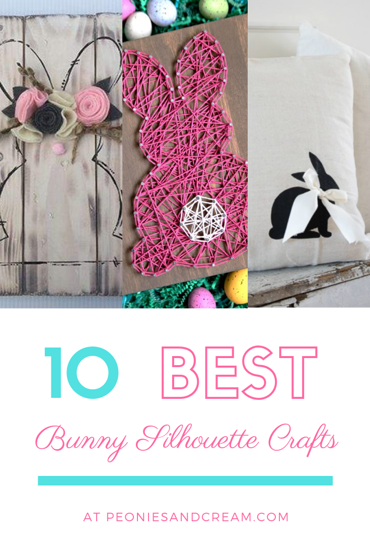 bunny silhouette crafts | Peonies and Cream