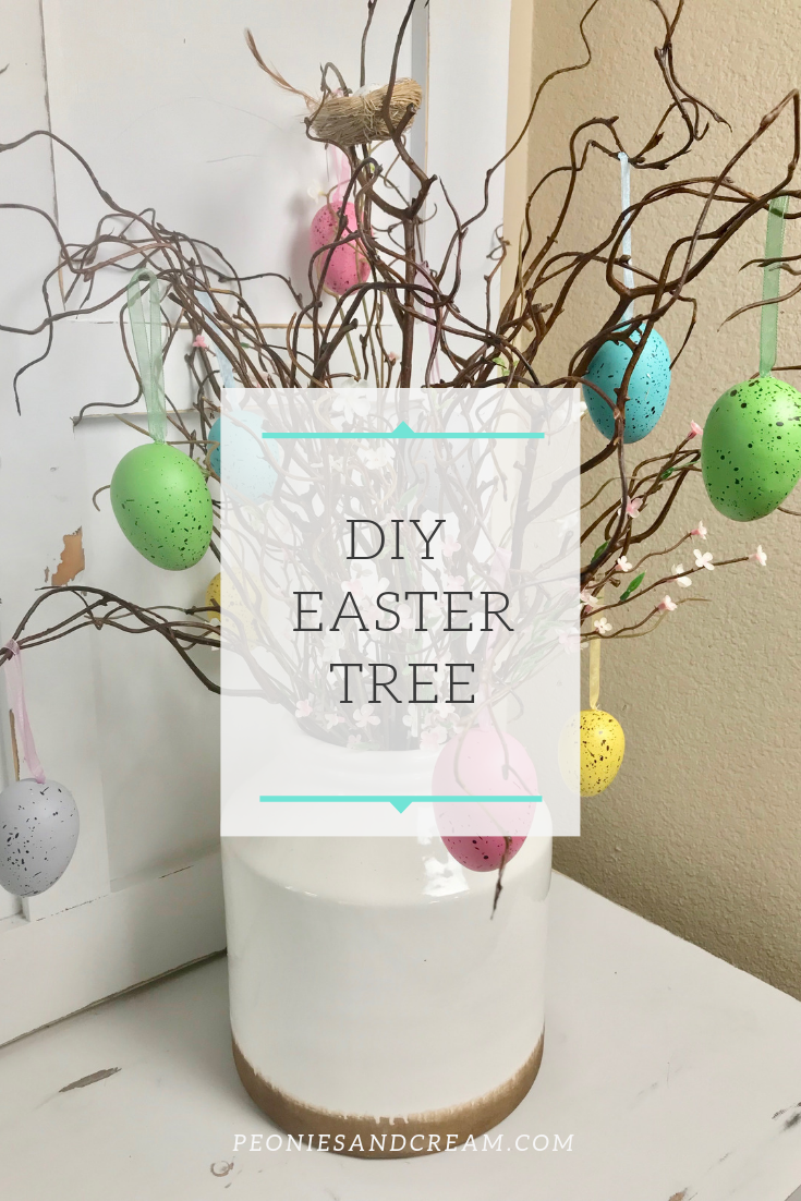 DIY Easter Tree | Peonies and Cream