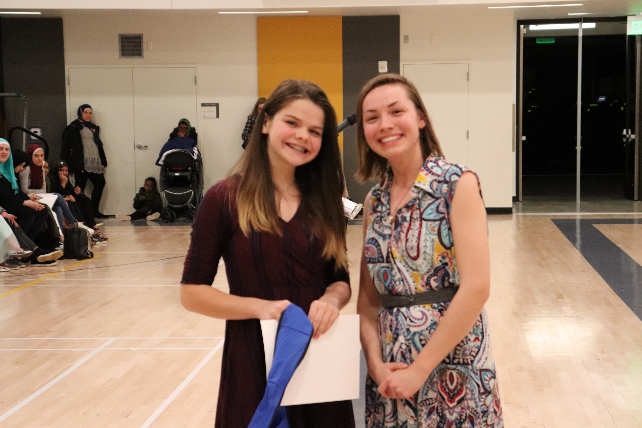 """Denver Water awarded Lia Dino, Skinner Middle School, for her project """"Effect of Bio-solid Sludge on the Growth Curve of  E. coli  and the Impact of Antibiotics""""."""