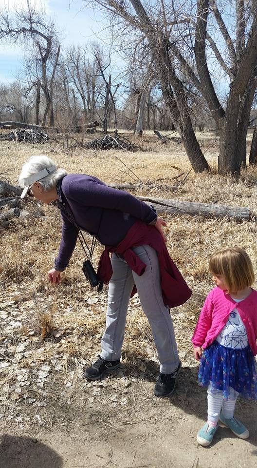 Casey shows Quinley a native grass!