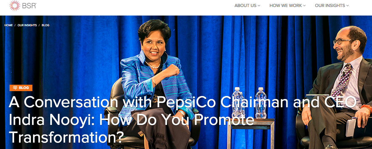A Conversation with PepsiCo Chairman and CEO Indra Nooyi