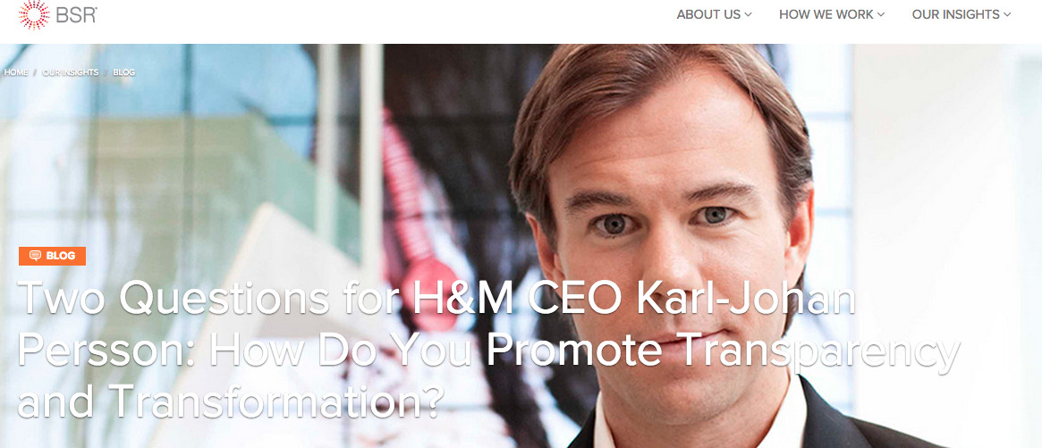 Two Questions for H&M CEO Karl-Johan Persson