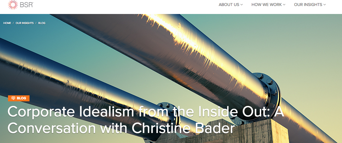 Corporate Idealism from the Inside Out: A Conversation with Christine Bader