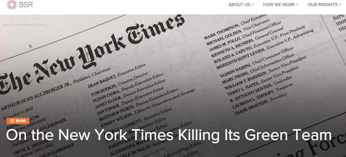On the New York Times Killing Its Green Tea