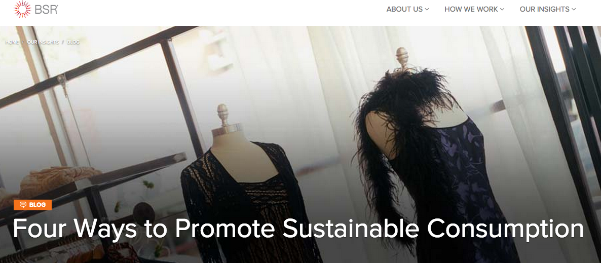 Four Ways to Promote Sustainable Consumption