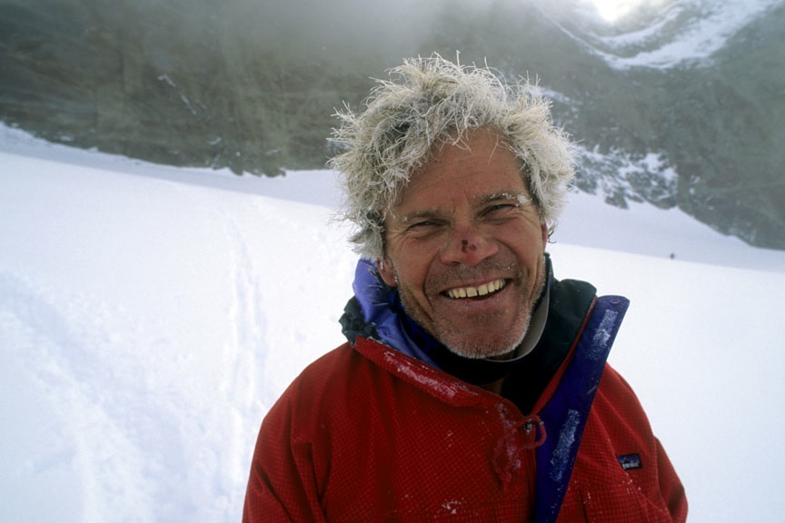 Photo of Rick Ridgeway on Antarctic expedition courtesy of Gordon Wiltsie:  www.alpenimage.com .